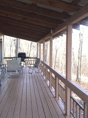 Blue Ridge cabin photo - Upstairs deck