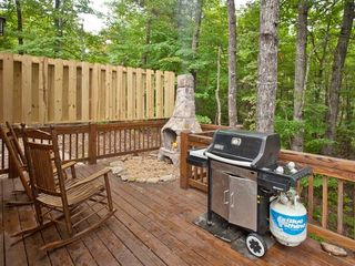 Ellijay cabin photo - Outdoor fireplace and gas grill