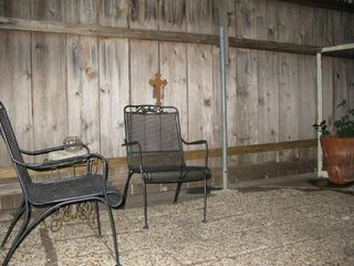 Austin house photo - Small, secured courtyard/sitting area adjacent to kitchen