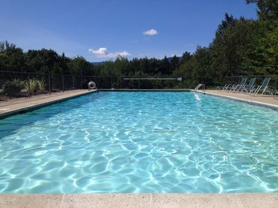 Heated Swimming pool---just steps from our front door.