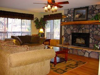 Prescott lodge photo - Living room with large windows to enjoy the outdoors even inside!