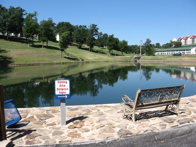 Branson condo rental - Don't forget your fishing poles! We have private lake access & stocked ponds!