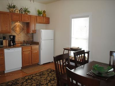 Well-appointed kitchen, open, bright & sunny. All new.