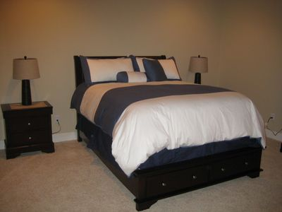 Somers house rental - Sixth bedroom, lower level.