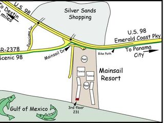 Mainsail Resort condo photo - Map of Mainsail Resort