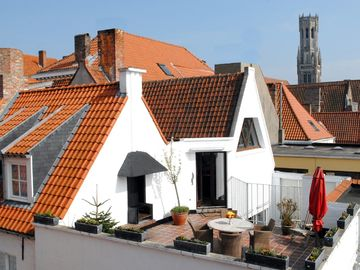 Bruges (Brugge) apartment rental - Private roof garden with a barbeque.