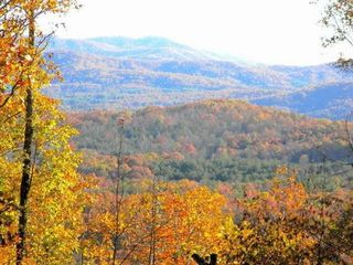 Morganton cabin photo - Fall photo of mountains from deck.