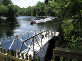 Suwannee River house photo - Private Gangway to Suwannee River & Floating Deck