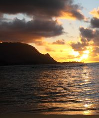 Princeville condo photo - Bali Hai sunset