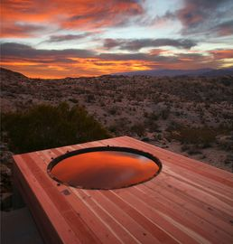 Joshua Tree house rental - Sunrise with view of Joshua Tree Park