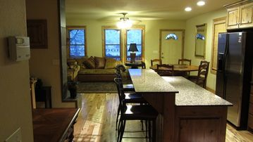 Park City house rental - Picture showing how open everything is. Kitchen, dining room and Living room !!