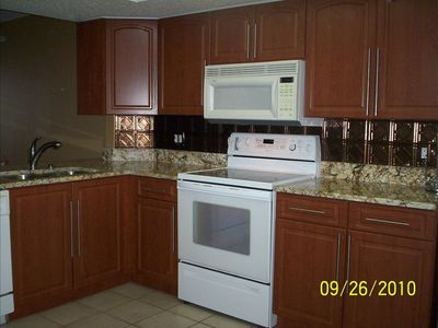 Kitchen with Beautiful Granite Counter Tops