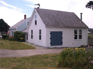 Port Clyde cottage photo - Front/side view of Cottage which includes freshly painted exterior in 2012.