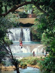 Zipline over Y.S. Waterfalls.