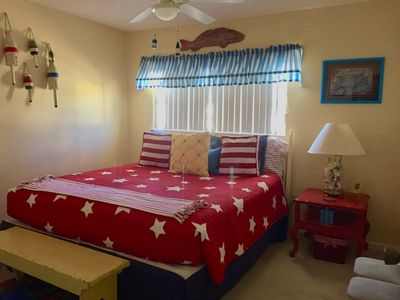 2nd Bedroom with King Size Bed, Ceiling Fan, TV