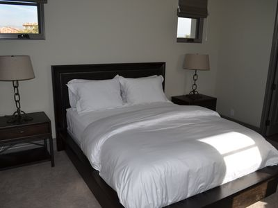Upper Casita Bedroom with queen bed and en suite bathroom