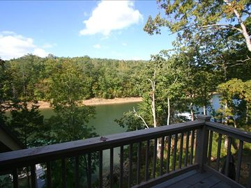 Lewis Smith Lake house rental - View from Master Bedroom deck