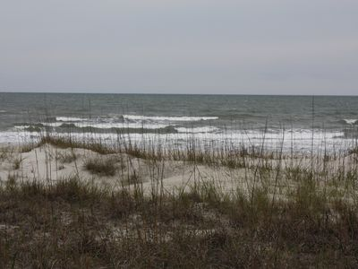 Looking across the dunes to the ocean