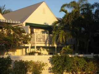 Key West condo photo - The balcony overlooks the entrance to Fort Zachary State Park and Beach.