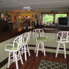 Crivitz cottage photo - Bar offers seating on both sides.