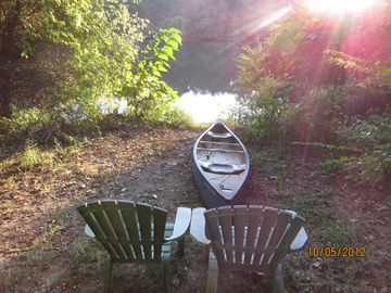 Take a canoe ride, or just sit and enjoy the tranquility...