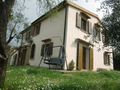large detached house with garden in the vicinity of the village, pets welcome