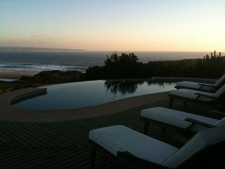 Santiago villa photo - Infinity Pool at Sunset