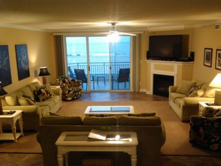 "Oceans Mist Ocean City condo photo - Living Room with Theater sound 60"" LG TV, 3 Sofas and 2 Swivel Chairs"