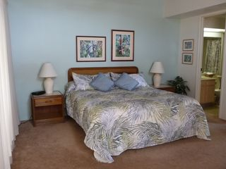 Princeville condo photo - Large Master BR Suite has full bath, desk, dresser, sitting area & private lanai
