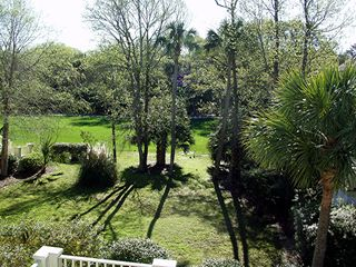 Kiawah Island house photo - Backyard view looking towards the Turtle Point Golf Course.