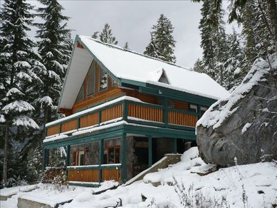 The Chalet is in a Beautiful Setting at the Base of a Mountain.