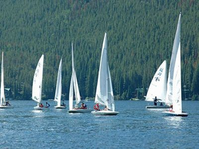 Check out the sailboat races on historic Grand Lake