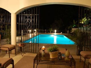 Runaway Bay villa photo - evening at the pool