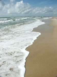 Beautiful white sand beach on the Gulf of Mexico.