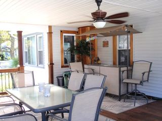Cape May house photo - Deck has Tiki Bar with patio furniture