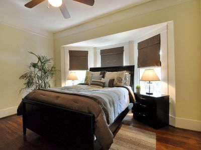Upstairs guest room with queen bed
