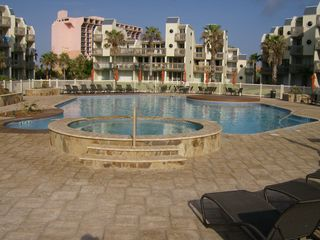 South Padre Island condo photo - Pool & Hot Tub next to our building