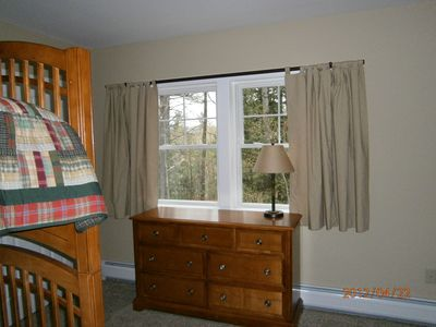 bunk room (has view of black mountain in winter)