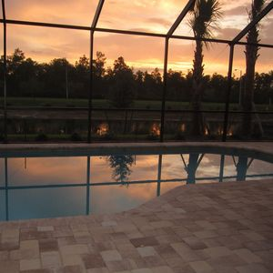 Spend an evening pool side enjoying the sunset