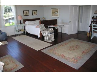 Mattapoisett house photo - Master Bedroom, Big House. Double Bed. Studio Bedroom through doorway to left