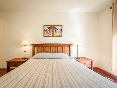 Get a good nights sleep in our comfy air conditioned room!