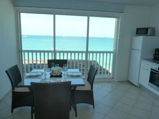 Grand Case apartment photo - Dining area with the sea-view