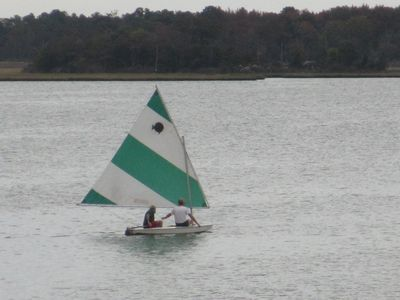 Fun in a sun fish sailing past your place!