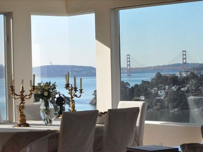 Dining Room with both City and Bridge views.