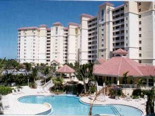 Naples condo rental - Beautiful tropical pool with waterfall. Zero elevation entry.
