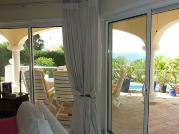 SEA VIEW FROM THE LOUNGE