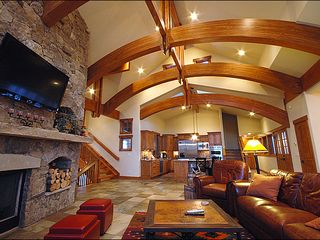 Baldy Mountain Breckenridge house photo - Relax in the Plush Leather Couches by the Fire