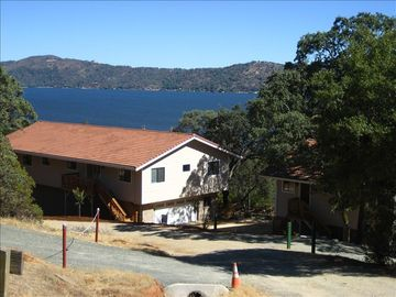 Clearlake Oaks house rental - Home exterior with view of Clear Lake