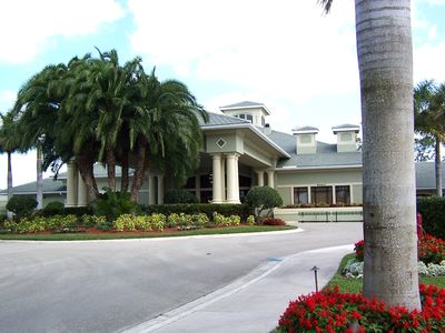 Entrance to Cedar Hammock Clubhouse