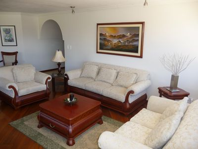 Quito condo rental - Elegant Living Room!